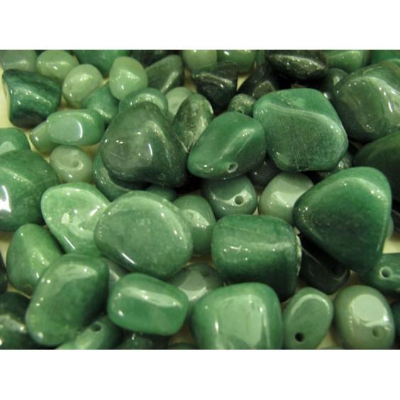 Πράσινη Αβεντουρίνη τρυπημένο βοτσαλάκι